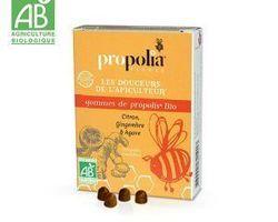 Gommes de propolis BIO: gingembre, citron : 6,00 € Sachet de 45gr