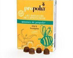 Gommes de propolis : miel & eucalyptus : 5,40 € Sachet de 45gr