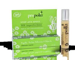 Roll-on sos imperfections BIO : propolis, tea tree : 13,80€ Roll-on 15ml